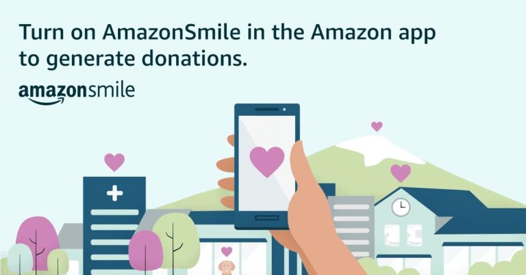 AmazonSmile on Smart Phone Ad